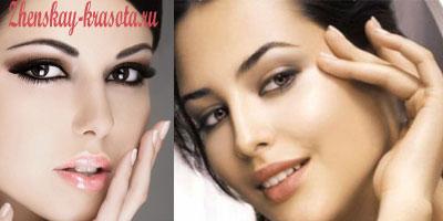 повседневный макияж для брюнеток